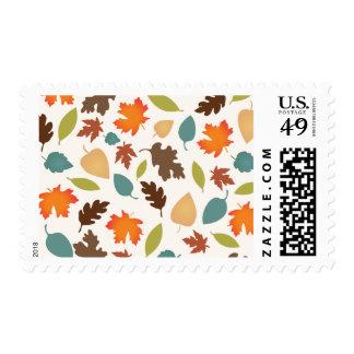 Sellos de las hojas de otoño de la caída