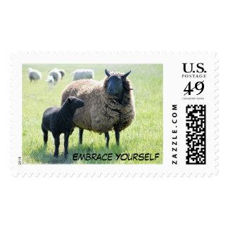 Sellos de las ovejas negras del abrazo usted mismo