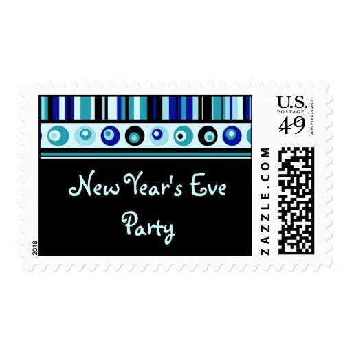 Sellos de las rayas azules del fiesta de Noche
