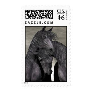 Sellos de los caballos de la protección a toda cos