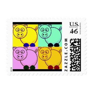 Sellos de los cerdos del arte pop