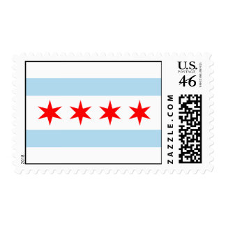 ¡Sellos de los E E U U de la bandera de Chicago