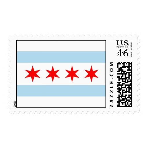 ¡Sellos de los E.E.U.U. de la bandera de Chicago!