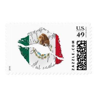 Sellos de los labios de la bandera mexicana