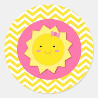 Sellos de los pegatinas de la sol pegatina redonda