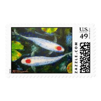 Sellos de los pescados de Koi