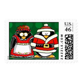 Sellos de los pingüinos del navidad