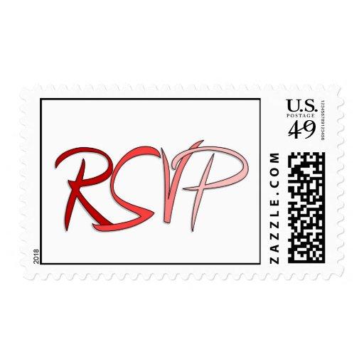 Sellos de los rojos de RSVP