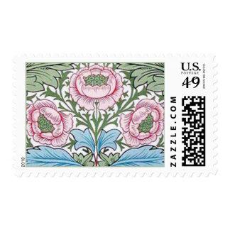 Sellos de los rosas de la zaraza de William Morris