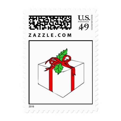 Sellos de Navidad del arco del acebo de la caja de