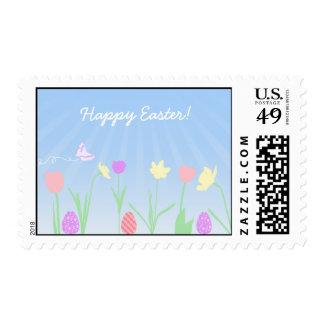 Sellos de Pascua de la escena de la primavera
