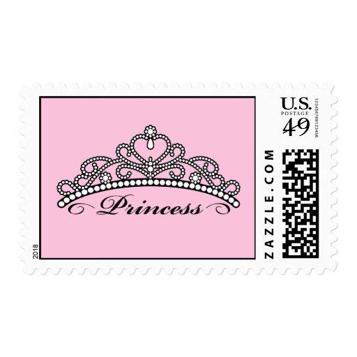Sellos de princesa Tiara (fondo rosado)