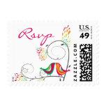 sellos de RSVP de los pájaros del verano del fatfa