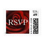 Sellos de RSVP del rosa rojo