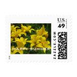 Sellos de U.S.Postage - lirios felices del amarill
