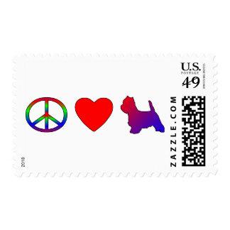 Sellos de Westies del amor de la paz