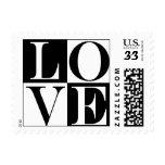 Sellos del amor de la postal
