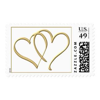 Sellos del amor de los corazones del oro
