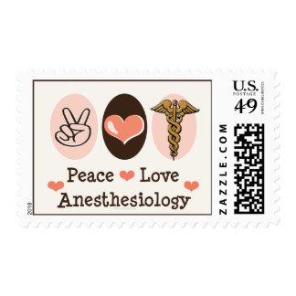 Sellos del Anesthesiology del amor de la paz