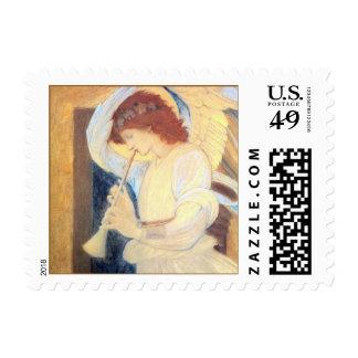 Sellos del ángel del navidad pequeño Burne-Jones