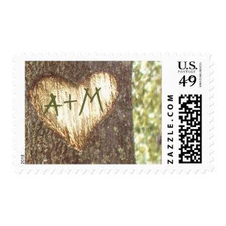 sellos del árbol de amor para los bodas rústicos