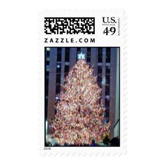 Sellos del árbol de navidad de NYC