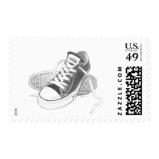 Sellos del arte de las zapatillas de deporte