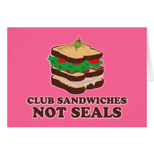 Sellos del bocadillo de club no tarjeta de felicitación