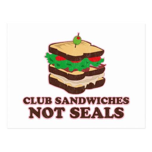 Sellos del bocadillo de club no tarjetas postales