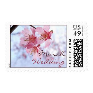 Sellos del boda de la flor de cerezo de marzo