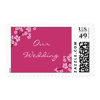 Sellos del boda de la flor de cerezo