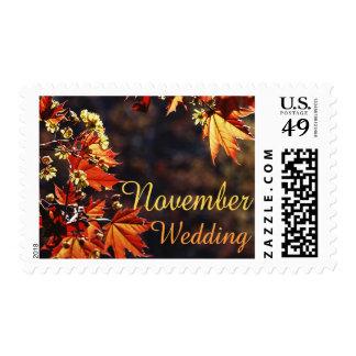 Sellos del boda de noviembre