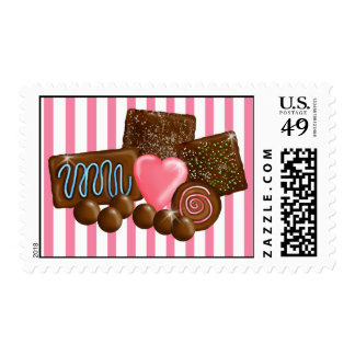 Sellos del caramelo de los dulces del chocolate