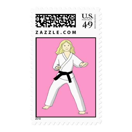 Sellos del chica del cumpleaños de los artes marci