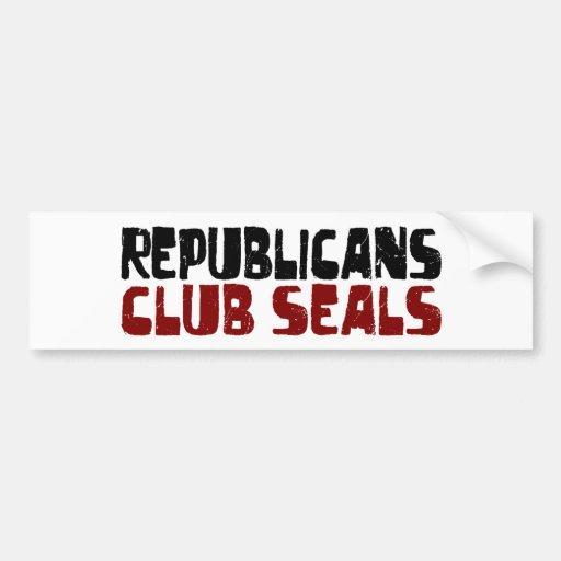Sellos del club de los republicanos etiqueta de parachoque