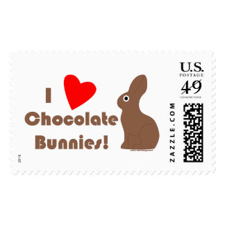 Sellos del conejito del chocolate