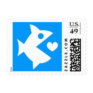 Sellos del corazón del amor de los pescados