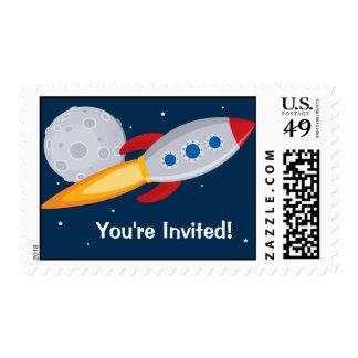 Sellos del cumpleaños de la nave de Rocket