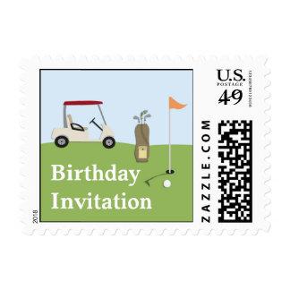 Sellos del cumpleaños del golf pequeños