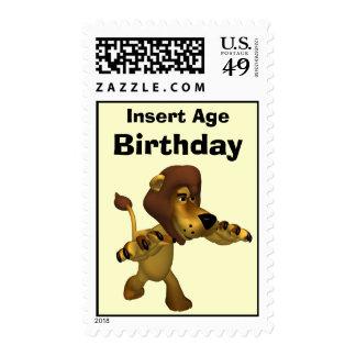 Sellos del cumpleaños del león
