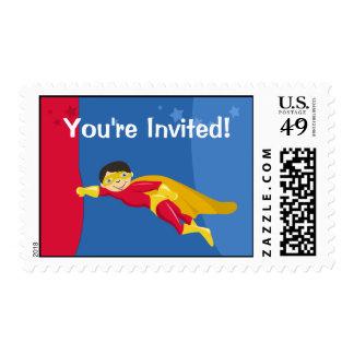 Sellos del cumpleaños del superhéroe