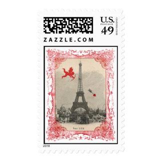 Sellos del Cupid del vintage de París
