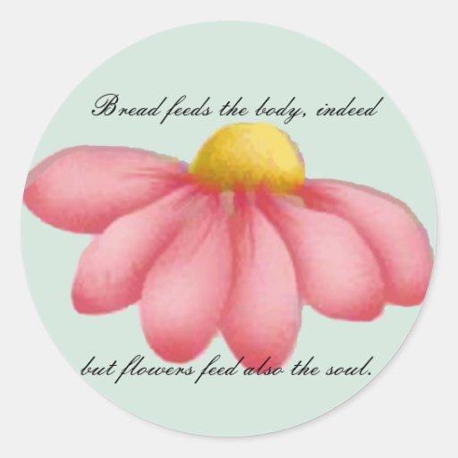 Sellos del día y tarjetas de nota delicados etiqueta redonda