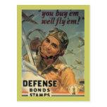 Sellos del enlace de defensa tarjetas postales