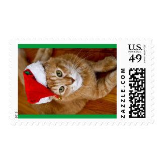 Sellos del gatito de Santa