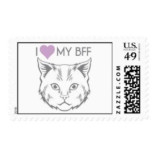 Sellos del gato de BFF