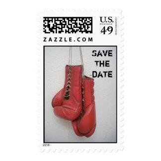 Sellos del guante de boxeo de la fecha de SaveThe