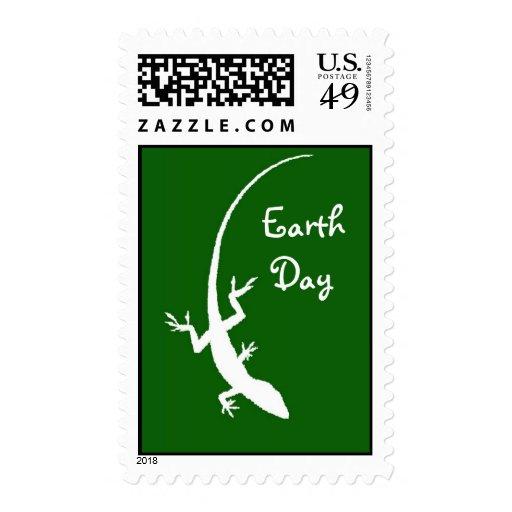 Sellos del lagarto del Día de la Tierra