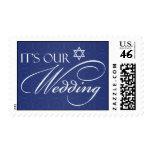 Sellos del medio de la invitación del boda judío