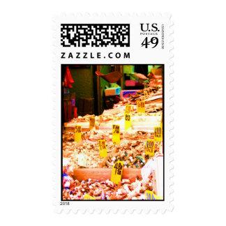 Sellos del mercado de pescados de Chinatown 1